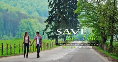 Mirela + Adrian   Save the date la munte