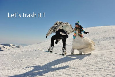 Sedinta foto dupa nunta trash the dress