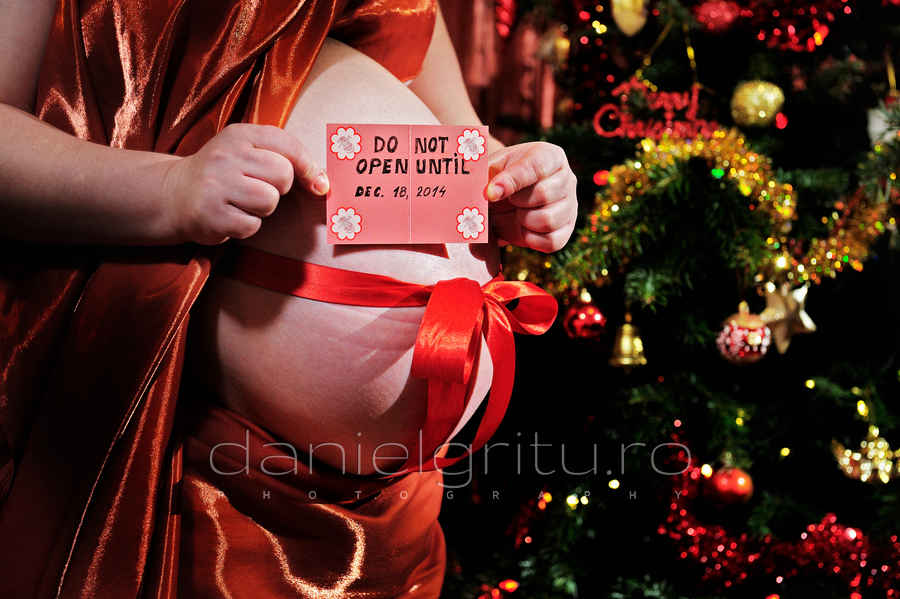 sesiune foto gravida de craciun in ploiesti