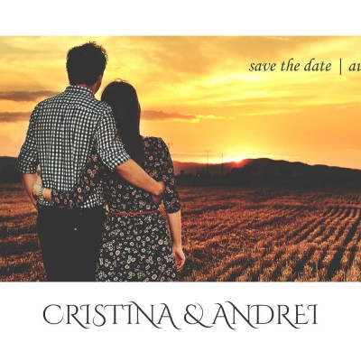 Cristina + Andrei | Sedinta foto pe camp la apus