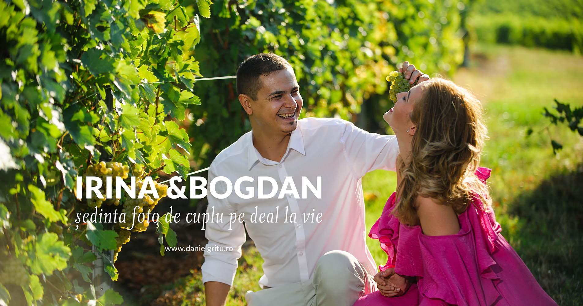 Sedinta foto de cuplu cu Irina si Bogdan pe deal la vie