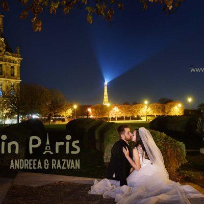 Sedinta foto dupa nunta la Paris | Andreea si Razvan