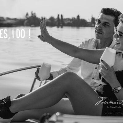 Cerere in casatorie pe lacul Snagov